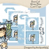 Brat Girl Winter Blue Card Tops(Retiring in July)
