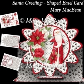 Santa Greetings - Shaped Easel Card
