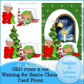 GSD PNC Waiting for Santa Claus Card Front/Topper Cutting File