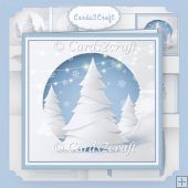 White Christmas tree card set