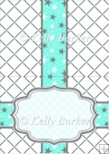 Happy Birthday Nail Polish Quick Card Insert A5 In Turquoise
