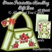 Green Poinsettia Handbag Gift Box