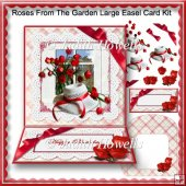 Roses From The Garden Large Easel Card Kit