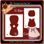 T043 Baby Dress Card Template *PNG and PDF*