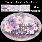 Summer Field - Oval Card