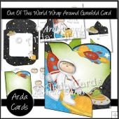 Out Of This World Wrap Around Gatefold Card