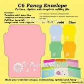 C6 Fancy Envelope – Pattern – Spider web template