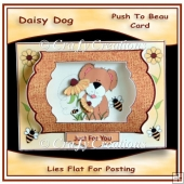 Daisy Dog Push to Beau Card
