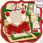 CHRISTMAS POINSETTIA 6x6 Envelope Easel Kit