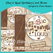 Play it Loud Birthday Card Front with Pyramage