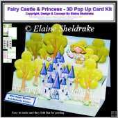 Fairy Castle & Princess Giant A4 - 3D Pop Up Card Kit