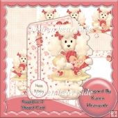Puppylove 2 Shaped Card