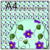 ref1_bp138 - Turquoise & Purple Flowers