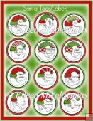 Whimsical Round Santa Sayings for Cards, Tags, Packages