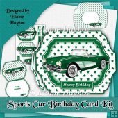 Sports Car Birthday Card Kit