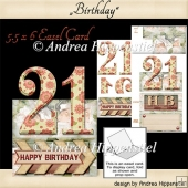 Birthday Easel Card 21 girl