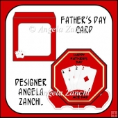 FATHER'S DAY OCTAGON PLATE CARD WITH STAND
