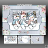Snowmen Trio A5 Mini Kit