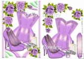lilac roses with lilac corset & accessories