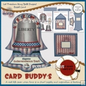 Let Freedom Ring Bell Shaped Easel Card Kit