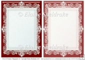 2 x A5 Burgundy (1) Lace Frames for Card Making & Scrapbooking