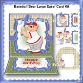 Baseball Bear Large Easel Card Kit