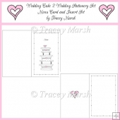 Wedding Cake 2 Wedding Stationery Set Menu Card and Insert Set