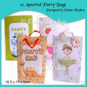 12 Assorted Party Bags