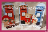 Dimensional Stand Up / Pop out Christmas Letter Box card BEARS