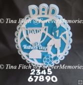 Father's Day Football Round Card, TF0097, SVG, MTC, SCAL, CAMEO