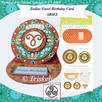 Aries - Zodiac Birthday Easel Card