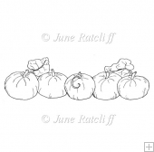 Pumpkin Border - Digital Stamp