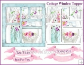 Cottage Window View Topper with 10 Panels