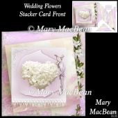 Wedding Flowers Stacker Card Front