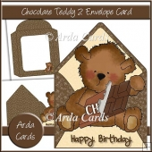 Chocolate Teddy 2 Envelope Card