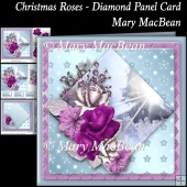 Christmas Roses - Diamond Panel Card