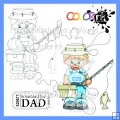 Fishing Peter and sentiment digital stamps