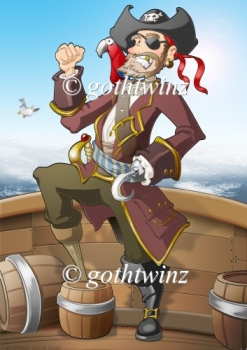Pirate Dude Red A4