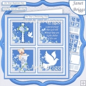 CHRISTENING or BAPTISM Boy or adult 7.5 Quick Layer Card