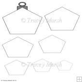 Commercial Use Pentagon Christmas Bauble Pyramage Template