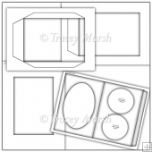 Commercial Use Double Round Aperture Pillow Card Template Set