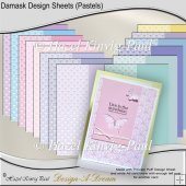 Damask Design Sheets (Pastels)