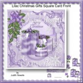 Lilac Christmas Gifts Square Card Front
