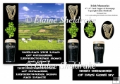Irish Memories With Harp, Shamrock & Guinness 6 x 6 Card Topper