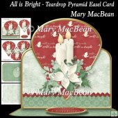 All is Bright - Teardrop Pyramid Easel Card
