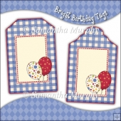 Bright Birthday Gift Tags - REF_T686 & REF_T687