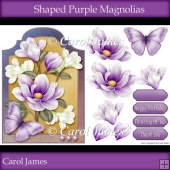Shaped - Purple Magnolias