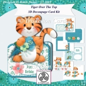 Tiger Over the Top 3D Decoupage Card Kit