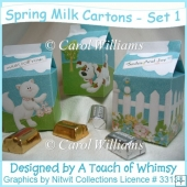 Spring Milk Cartons - Set 1