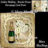 Golden Wedding - Bracket Frame Decoupage Card Front